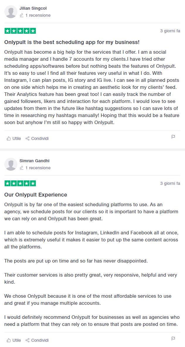 recensioni e opinioni onlypult