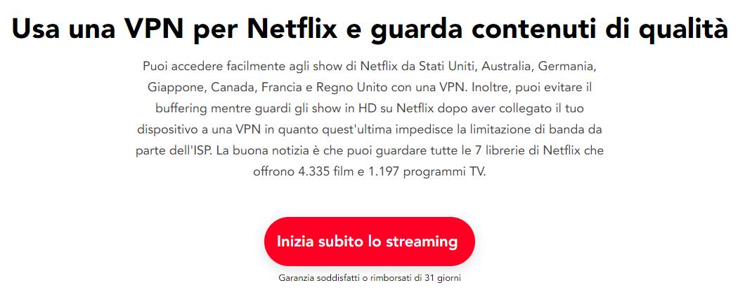 pure vpn streaming netflix italiano